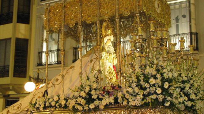Virgen del Rocio en Jueves Santo, en Melilla